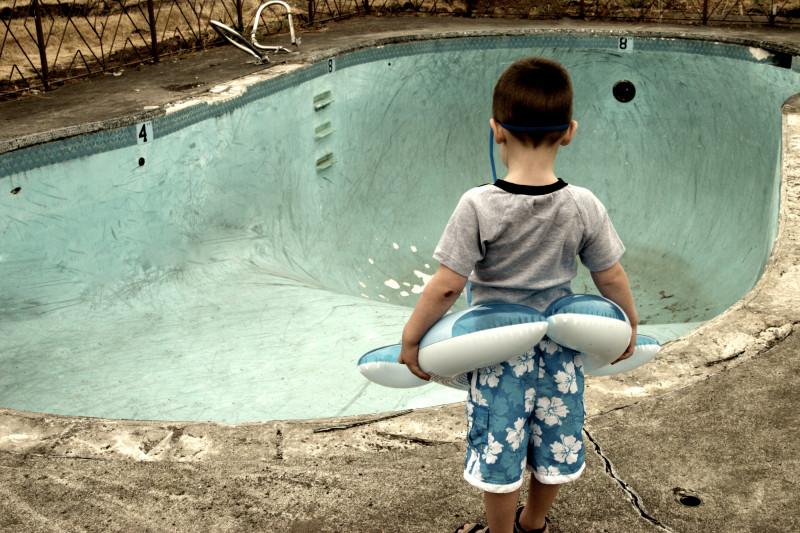 Crianças é o maior perigo nas piscinas vazias